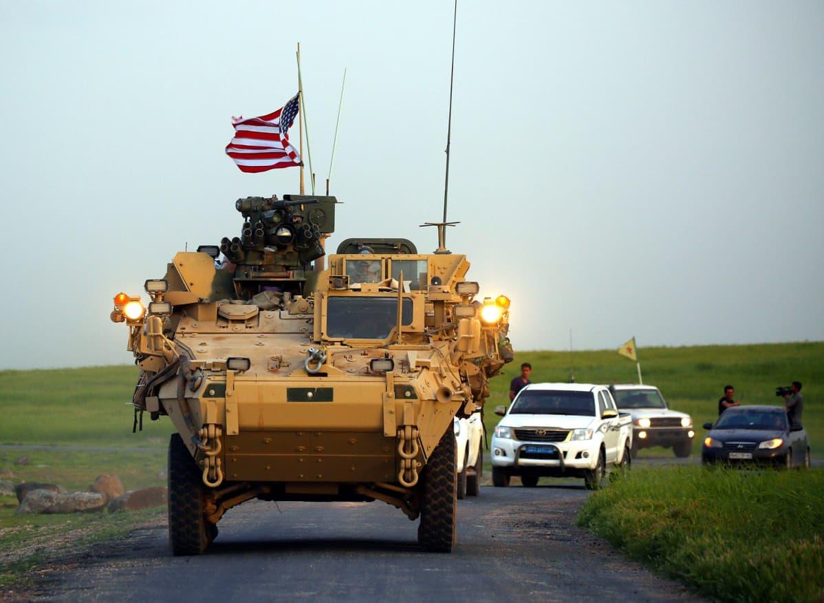 Amerikkalaisia joukkoja Syyriassa.