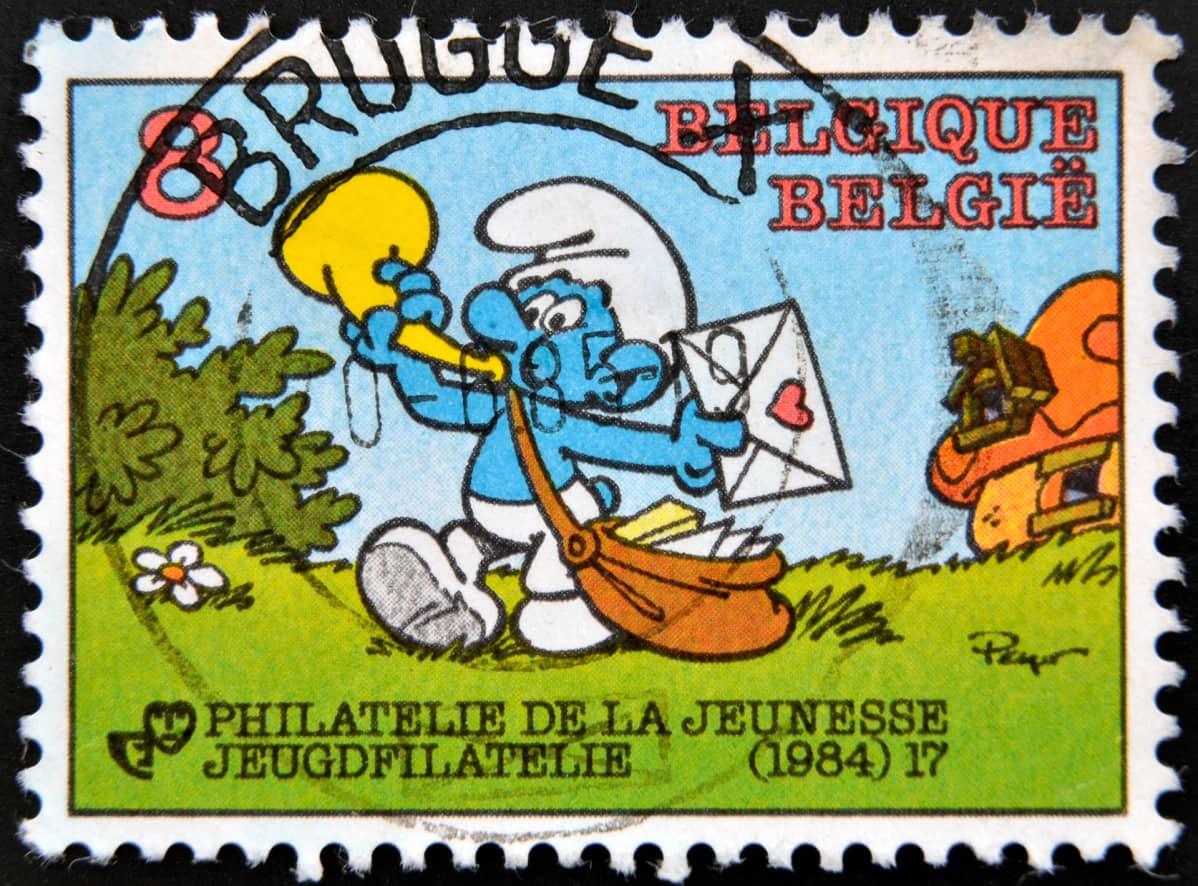 smurffit postimerkki