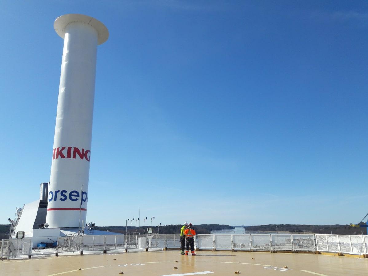 Roottoripurje on 24 metriä korkea, neljä metriä leveä ja painaa 7000 kiloa.