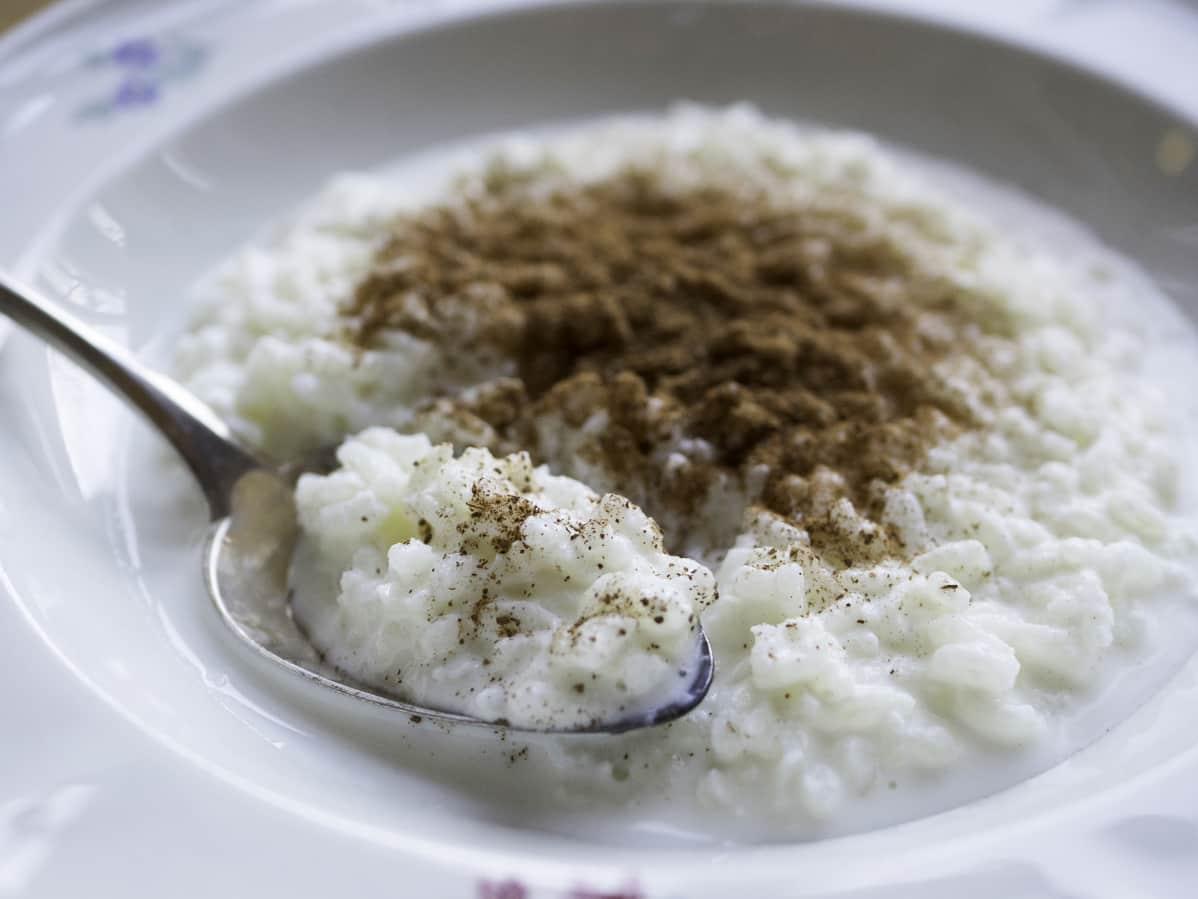 Riisipuuroa