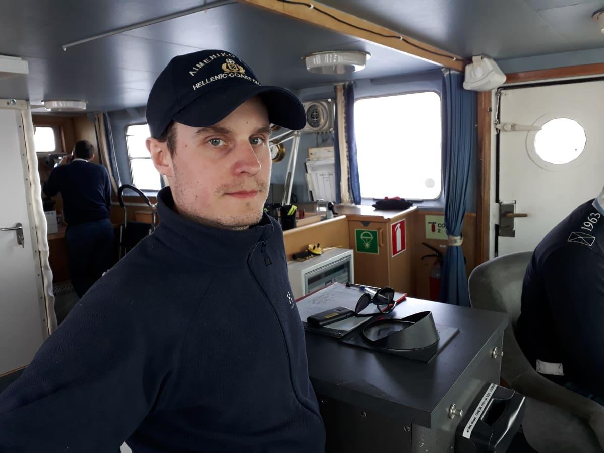 Fanny-aluksen päällikkö Gustav Ramberg.