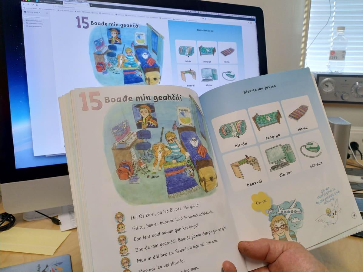 Myös saamenkielisiä oppimateriaaleja työstetään digitaaliseen muotoon.
