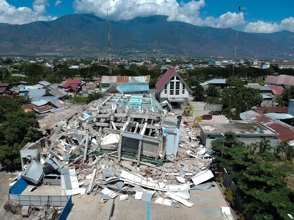 Tsunamin tuhoja Palussa Indonesiassa.