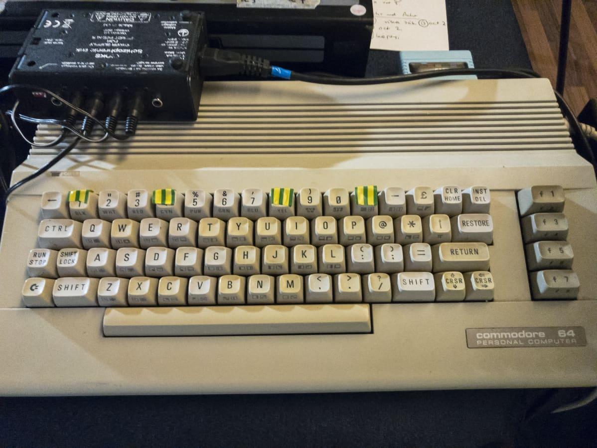 Commodore 64-tietokoneen näppäimistöä