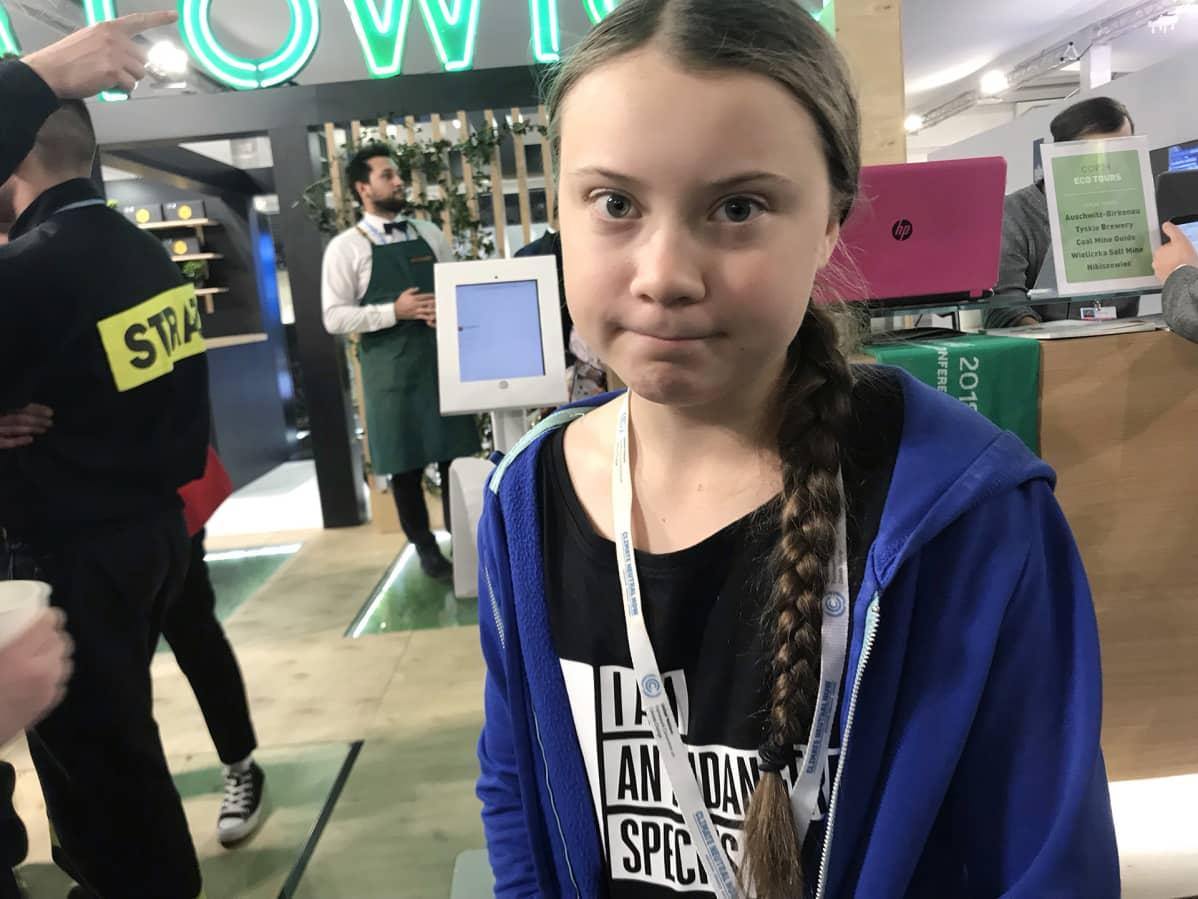 Greta Thunberg on ollut tekemässä ilmastotyötä Katowicessa kokouksen alusta alkaen.