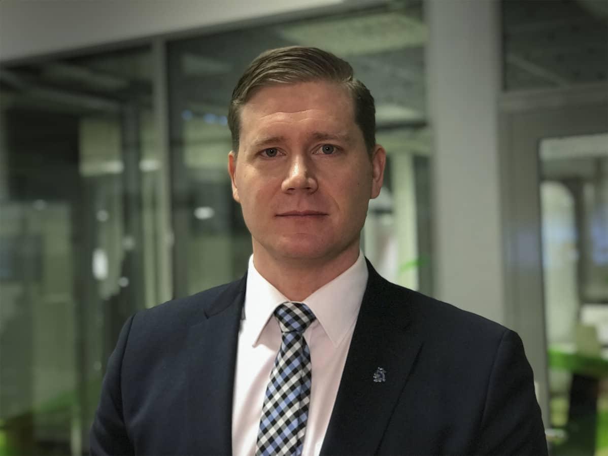 Jonne Rinne, puheenjohtaja, Suomen Poliisijärjestöjen Liitto.