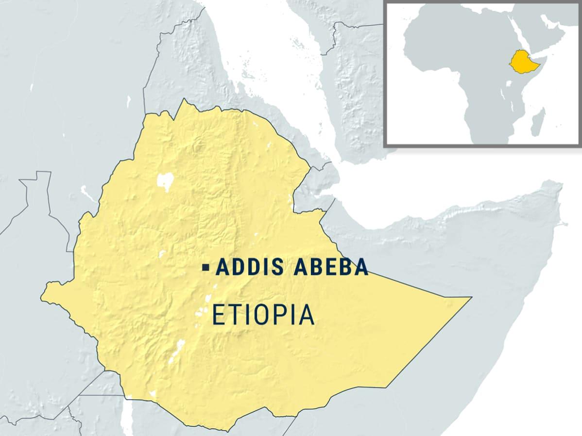Karttagrafiikka Etiopia.