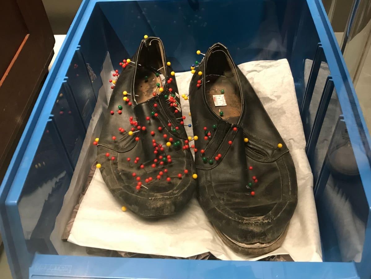 Poliisimuseo Nils Gustafssonin kengät Bodominjärven murhat poliisi
