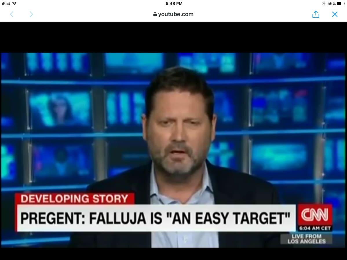 Hudson-insituutin tutkija Michael Pregent kommentoi Irakin tapahtumia CNN-kanavalla.