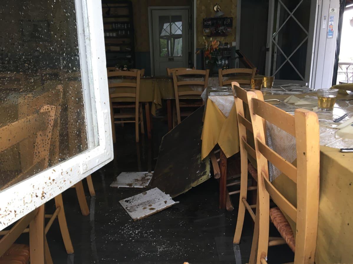 Palaneen ravintolan sisätilat Loviisassa