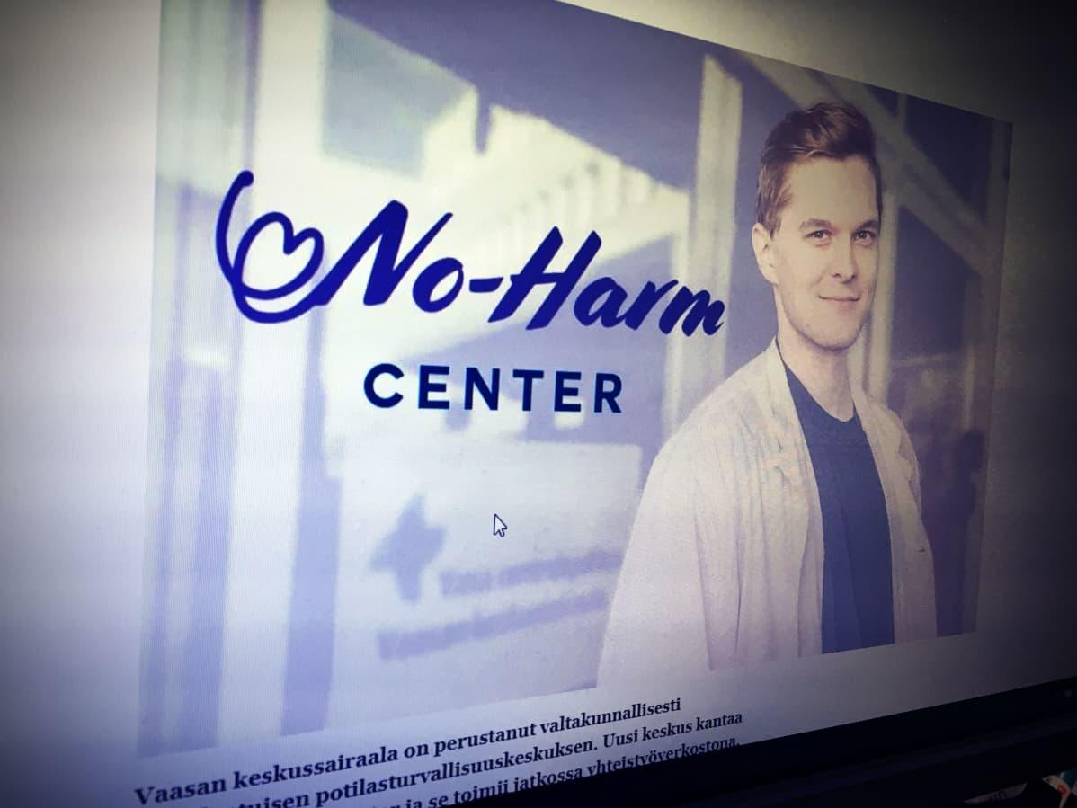 Kuvakaappaus Vaasan keskussairaalan nettisivuilta.