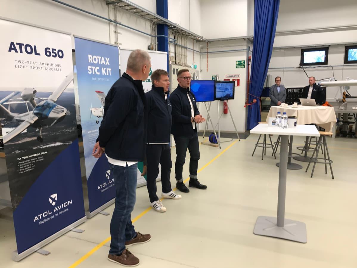 Esa Kataisto, Mika Salo ja Sami Saikkonen