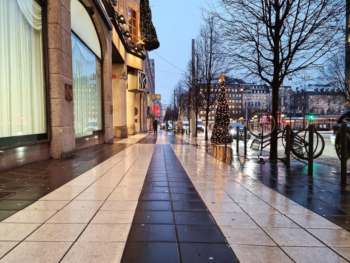 Katunäkymä Tukholmasta