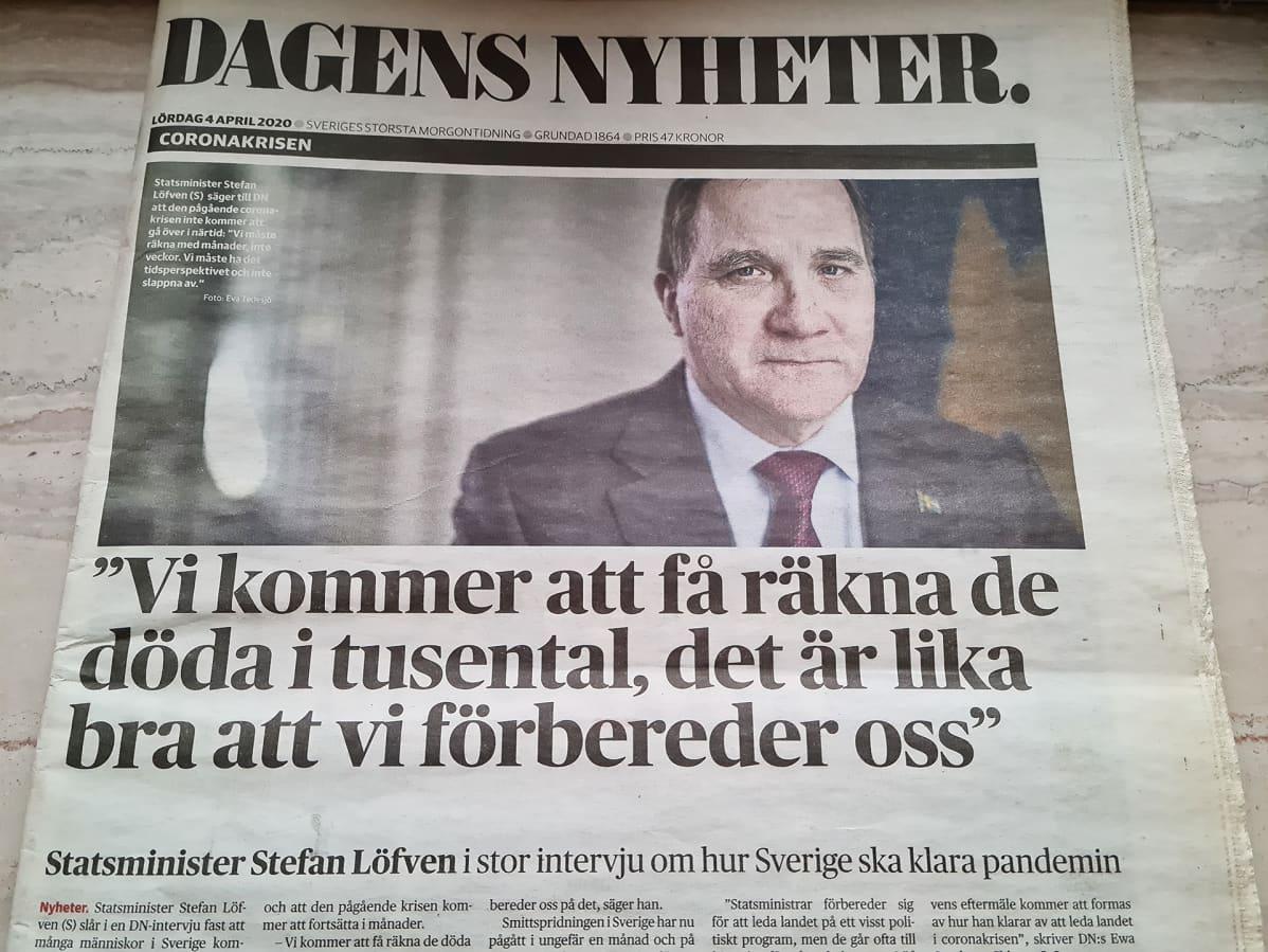 Dagens Nyheterin etusivu.