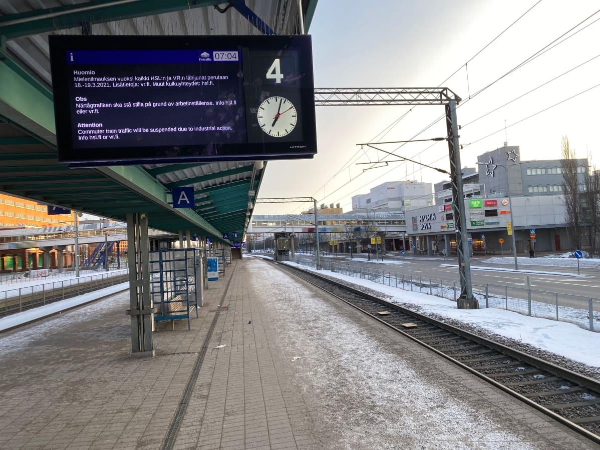 Malmin asema 18.3.2021.