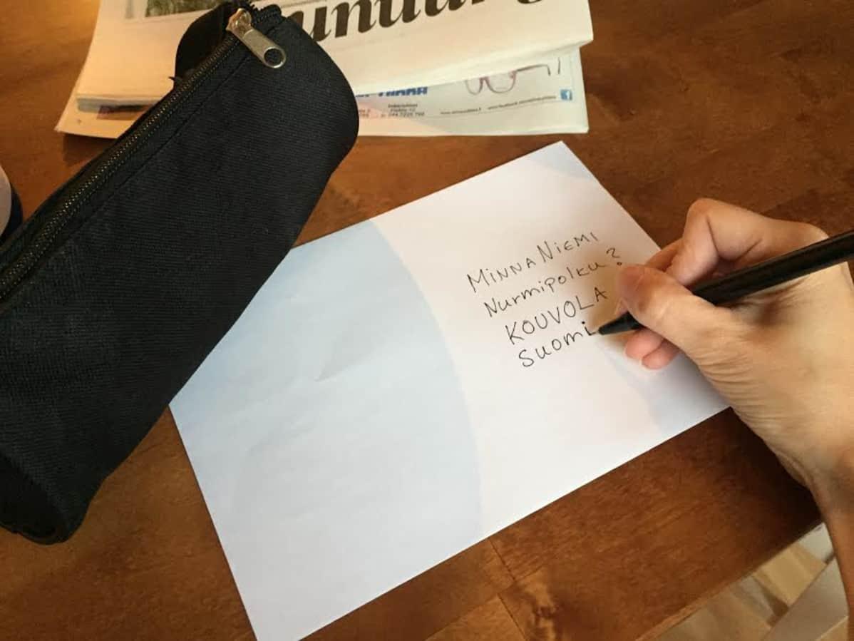 kirjeen lähetys ohje
