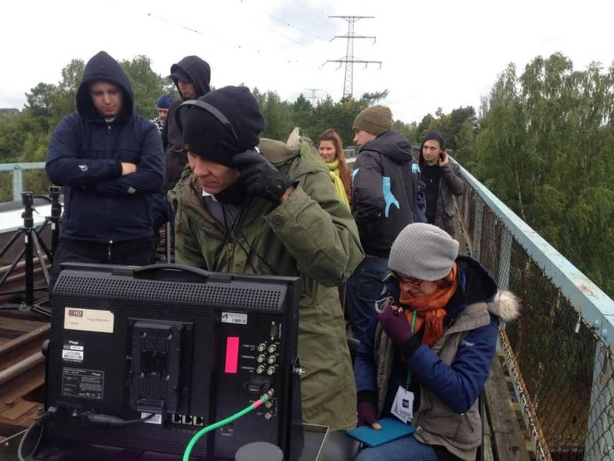Apulanta-elokuvan tekoa Heinolassa.