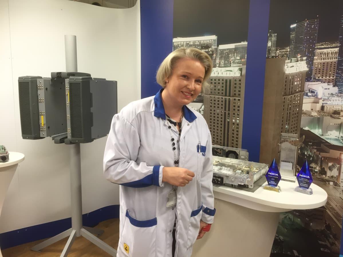 Nokian Oulun tukiasematehtaan tehtaanjohtaja Erja Sankari