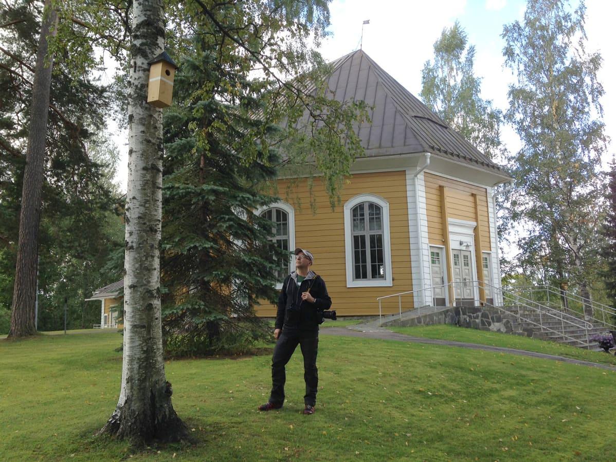Heinolan designpöntöt kirkkopuistossa