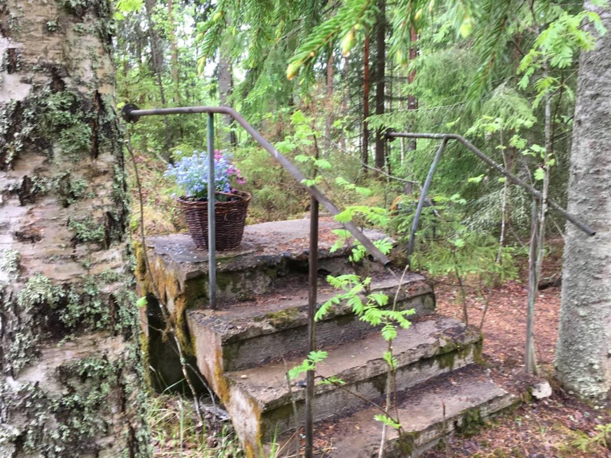 Sarkolan talo purettiin 1989. Sen portaat ovat jäljellä. Niihin taiteilija Hugo Simbergin kerrotaan kuolleen.