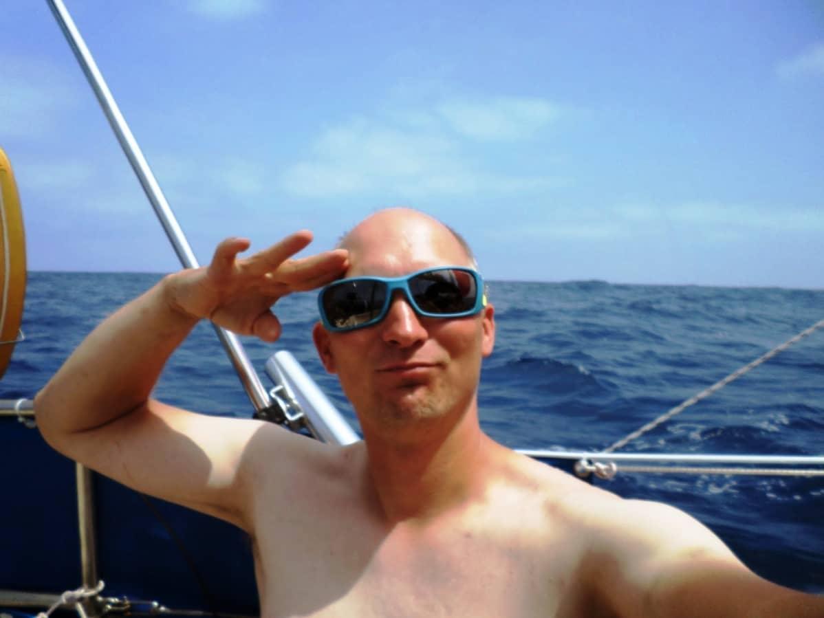 Markus Vilmi veneessään