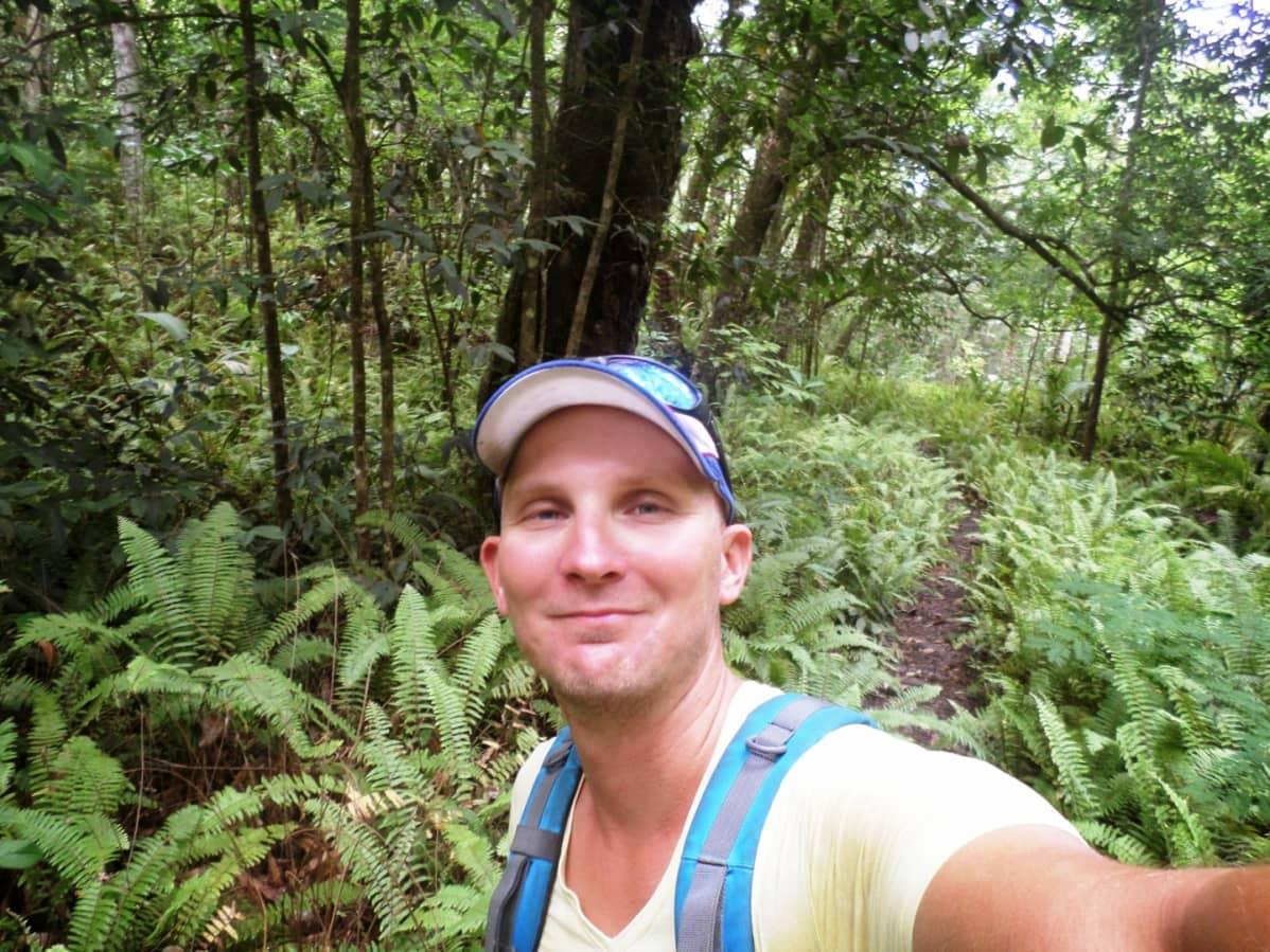 Markus Vilmin selfie viidakossa