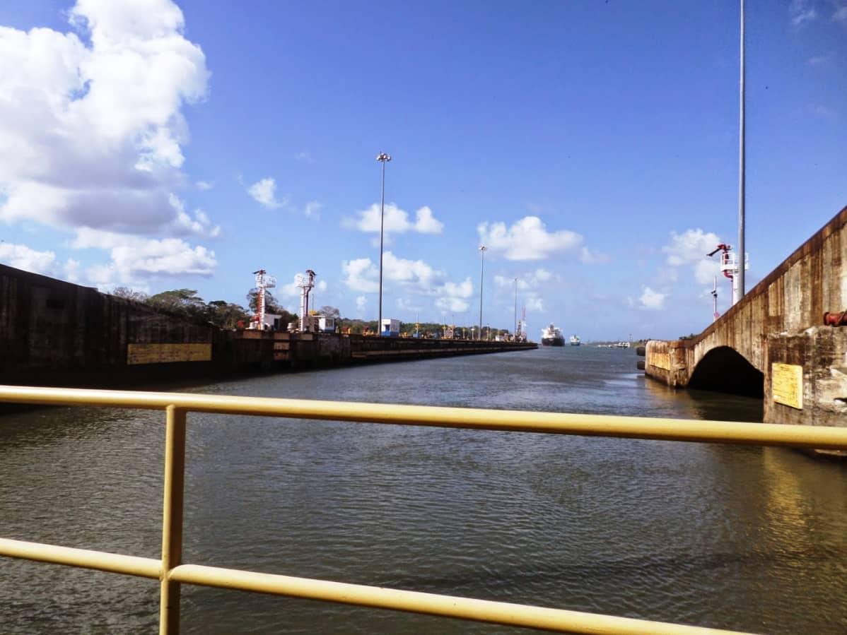 Näkymä Panaman kanavalle