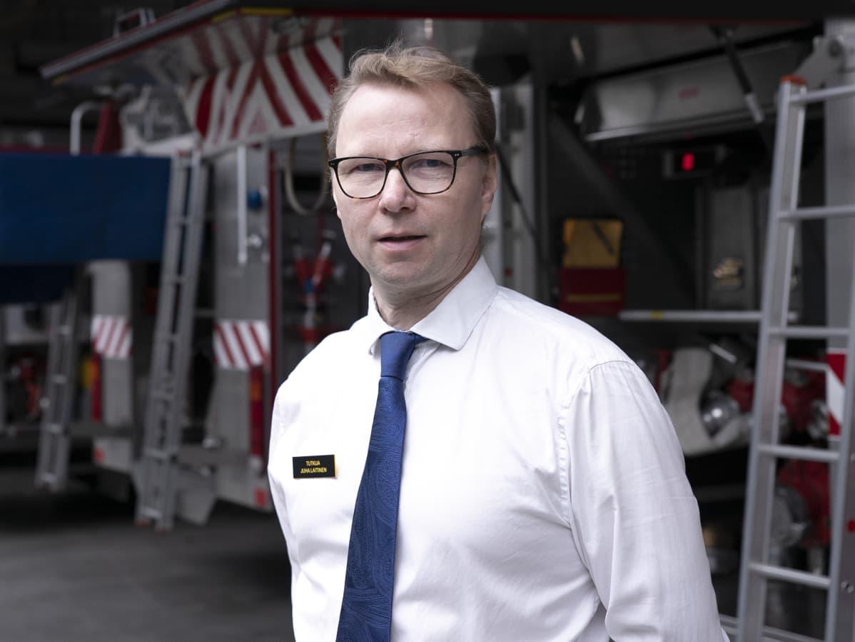 Pelastusopiston tutkija Juha Laitinen.