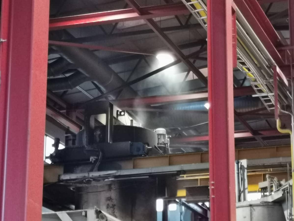 tulipalo öljysäiliössä
