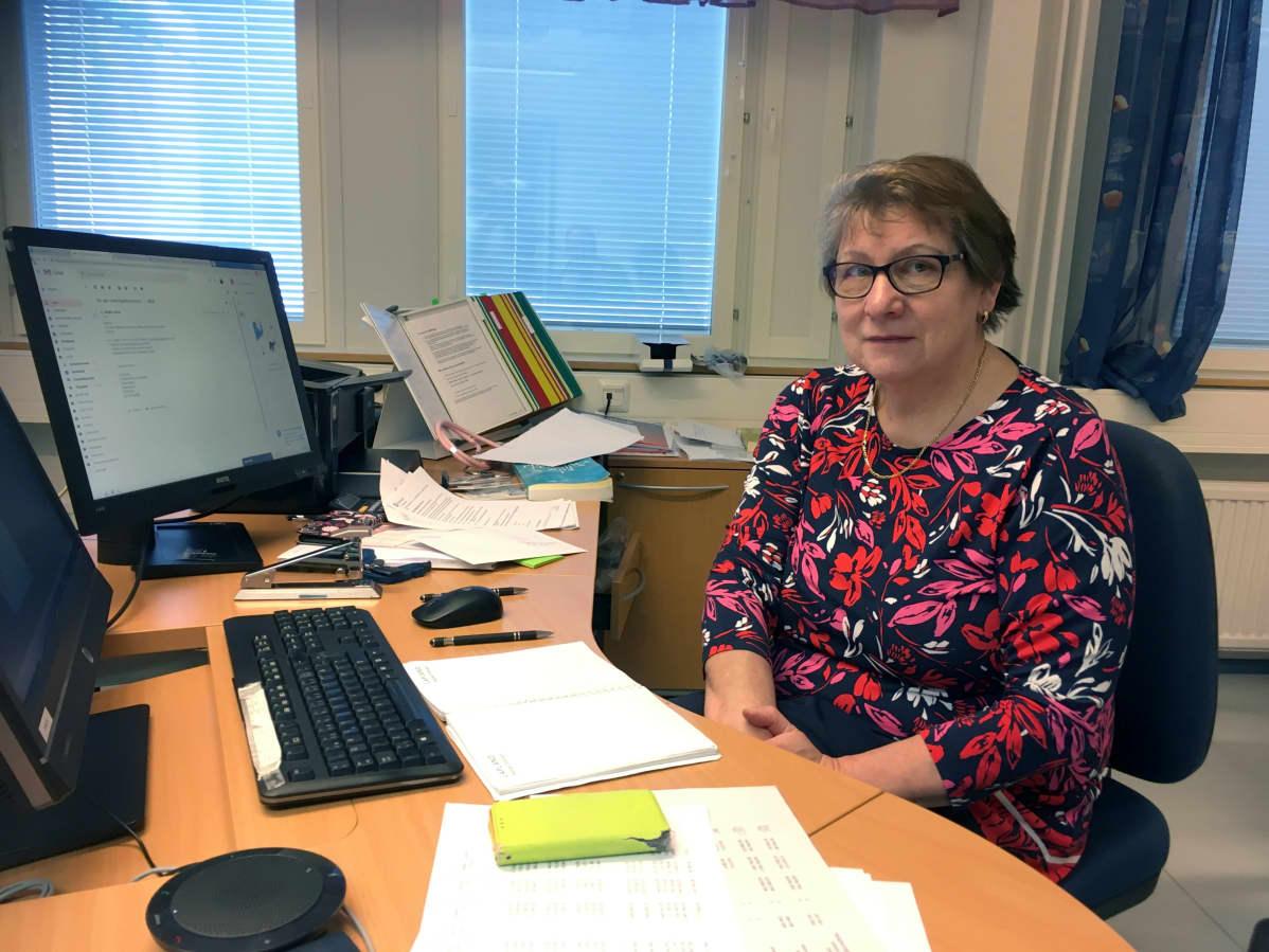 Kolarin terveyskeskuksen johtava lääkäri Ulla Ylläsjärvi on tyytyväinen uuteen toimintamalliin.
