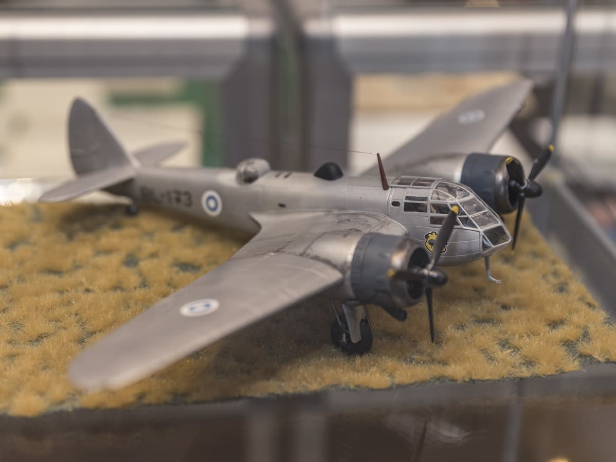 Blenheim-lentokoneen pienoismalli.