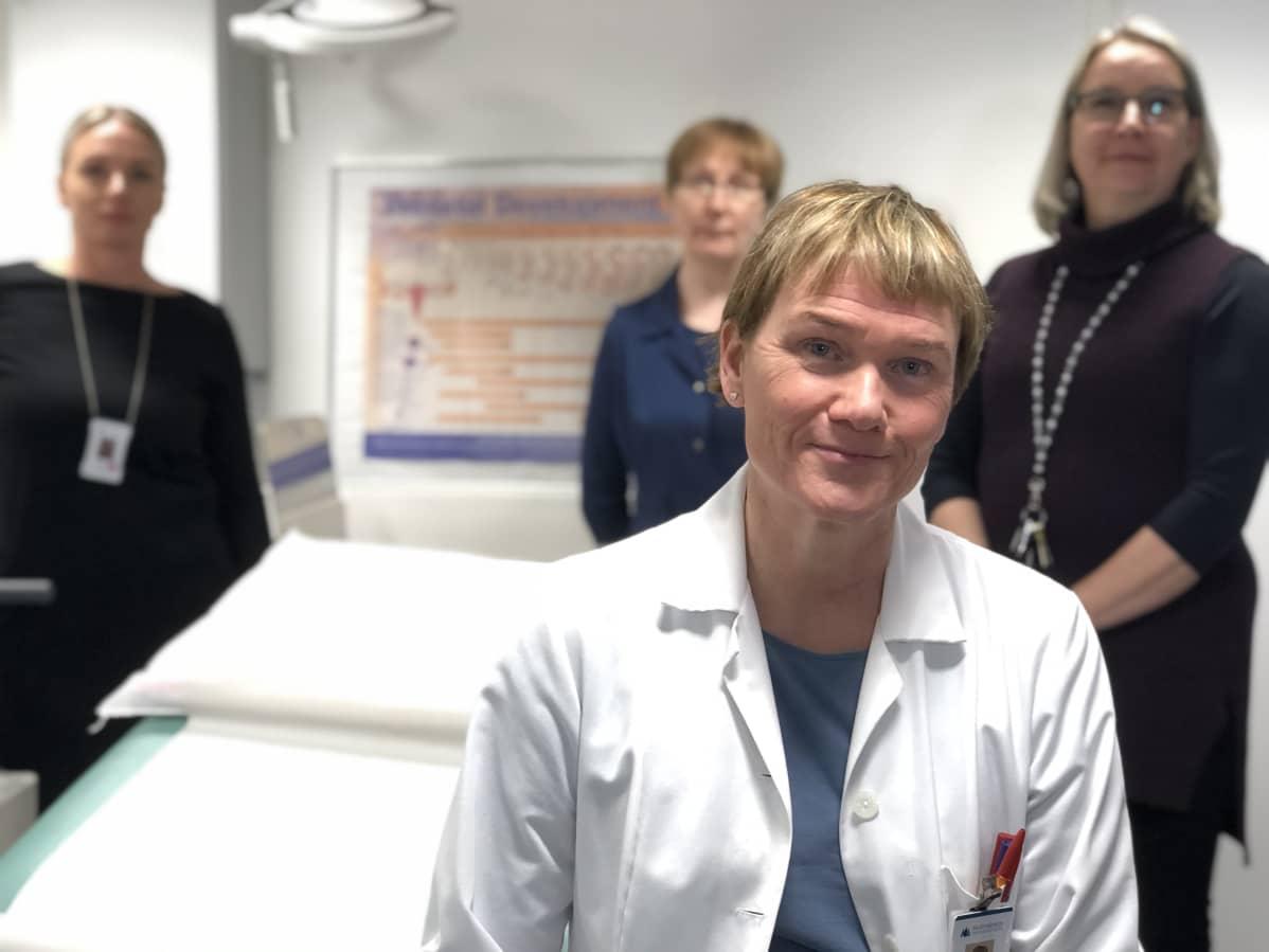 Äitiys- ja ehkäisyneuvolan apulaisylilääkäri Sirpa Rekonen Päijär-Hämeen hyvinvointiyhtymästä