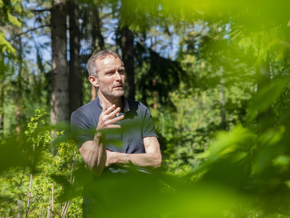 Arboretum Mustilan toiminnanjohtaja Jukka Reinikainen.