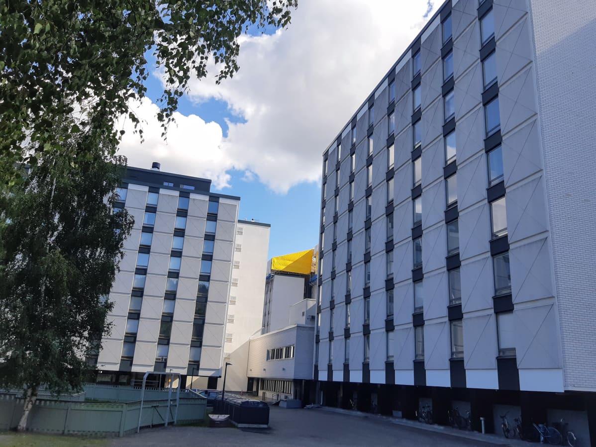 Ylioppilaskylän asuntorakennuksia Jyväskylän Kortepohjassa