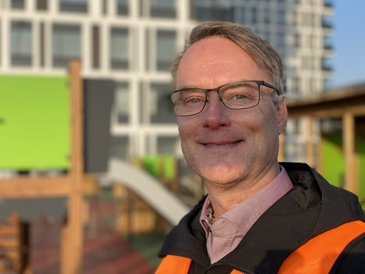 Rakennusyhtiö Laptin Itä-Suomen aluejohtaja Risto Pekkarinen.