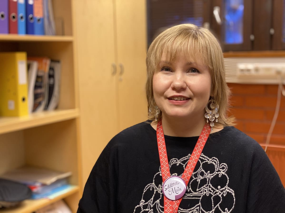 Inarin kunnan kielistrategiatyöntekijä Anna Lumikivi.