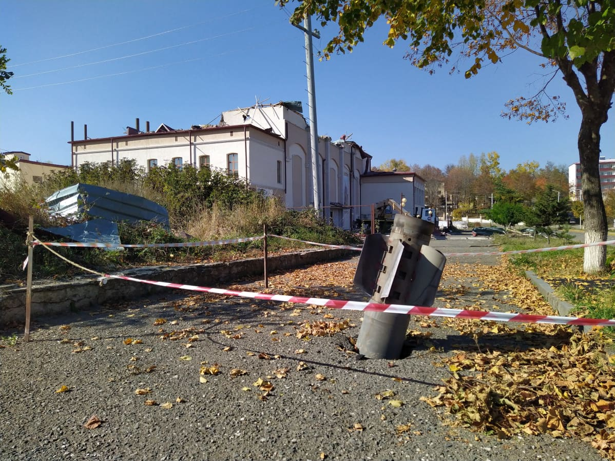 raketinheittimen ammus Vuoristo-Karabahissa.