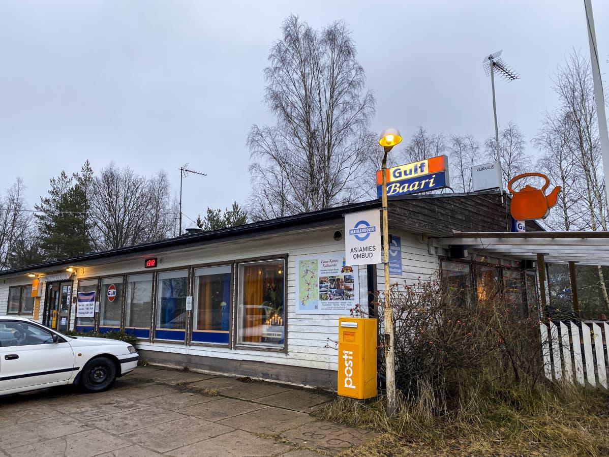 Ruotsinkylän Gulf-huoltoaseman baari.