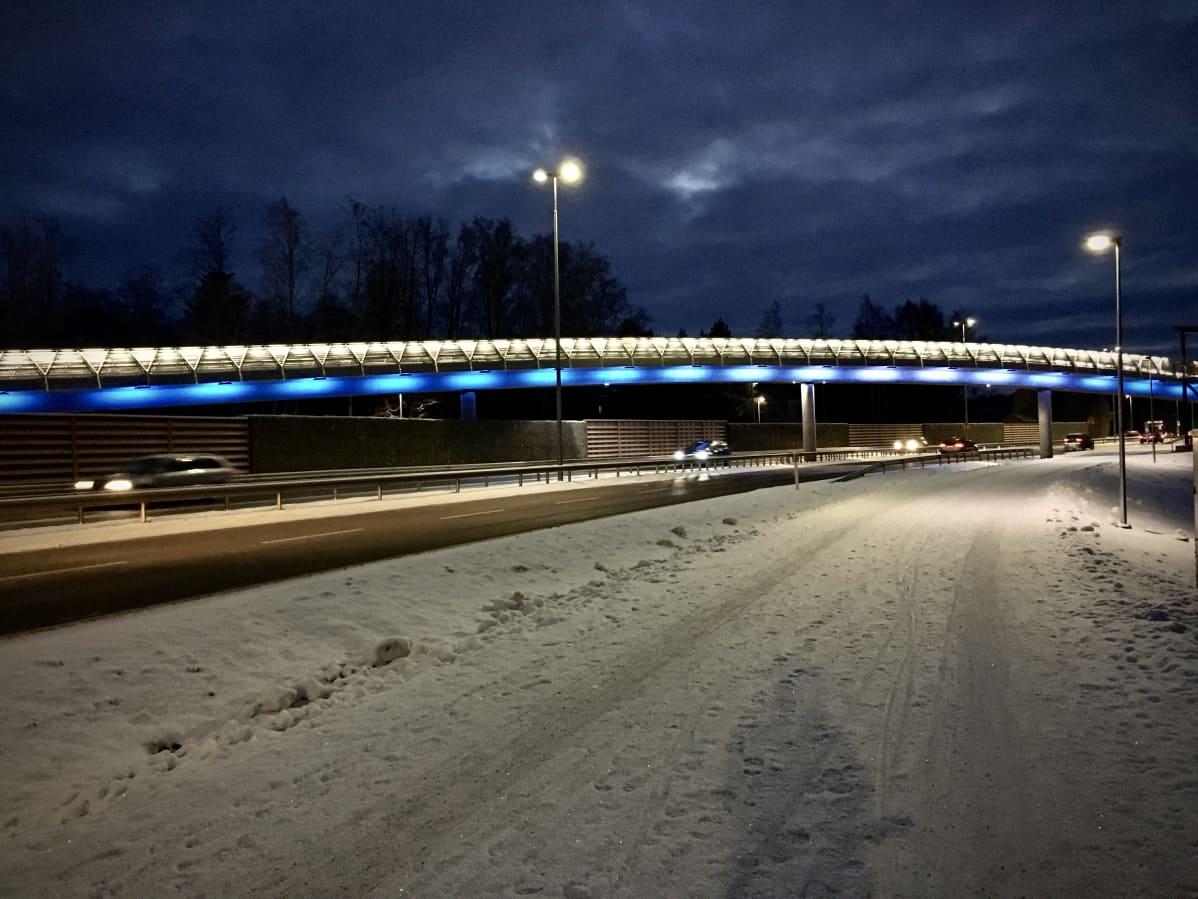 Onkilahden silta on kevyen liikenteen väylä, joka ylittää Alskatin tien.