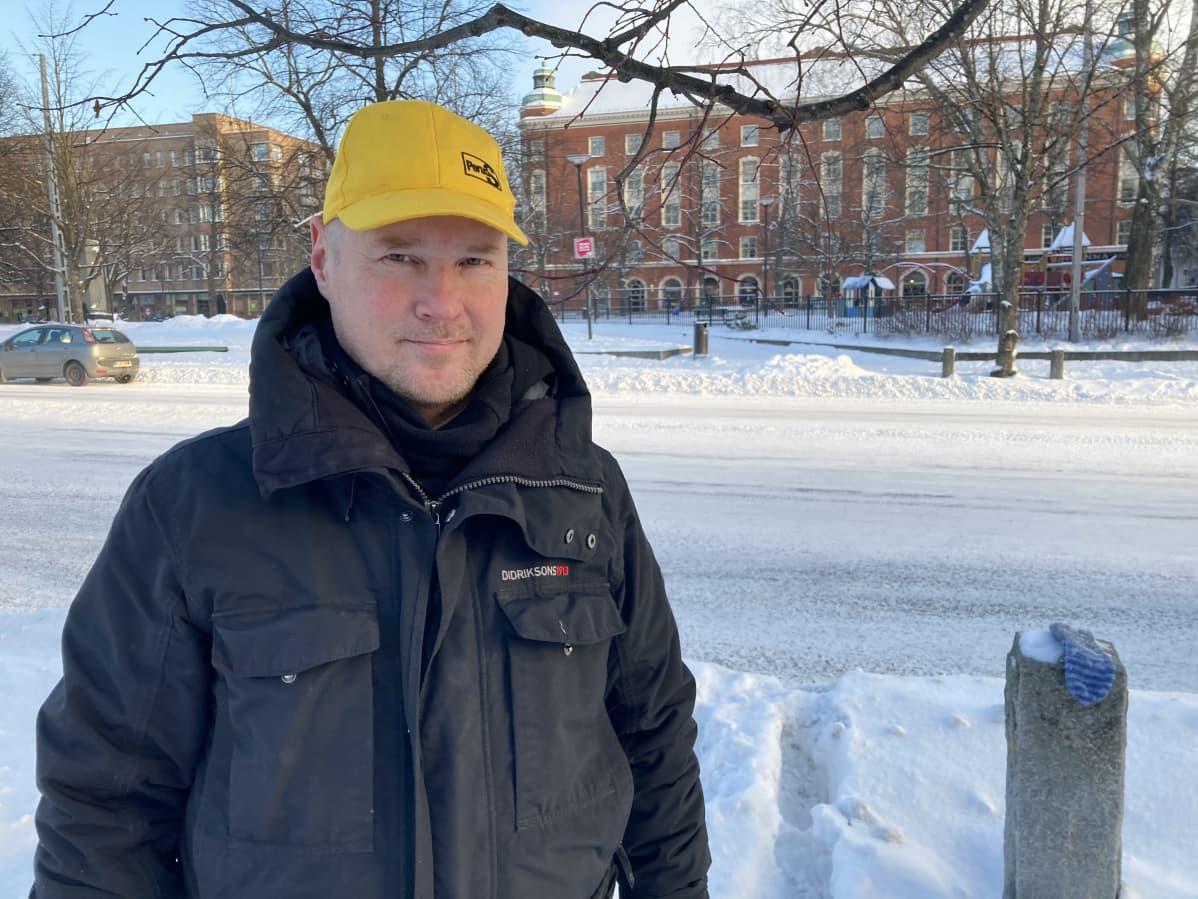 Lassi Kaleva perussuomalaisista, kuvattu Tampereella.