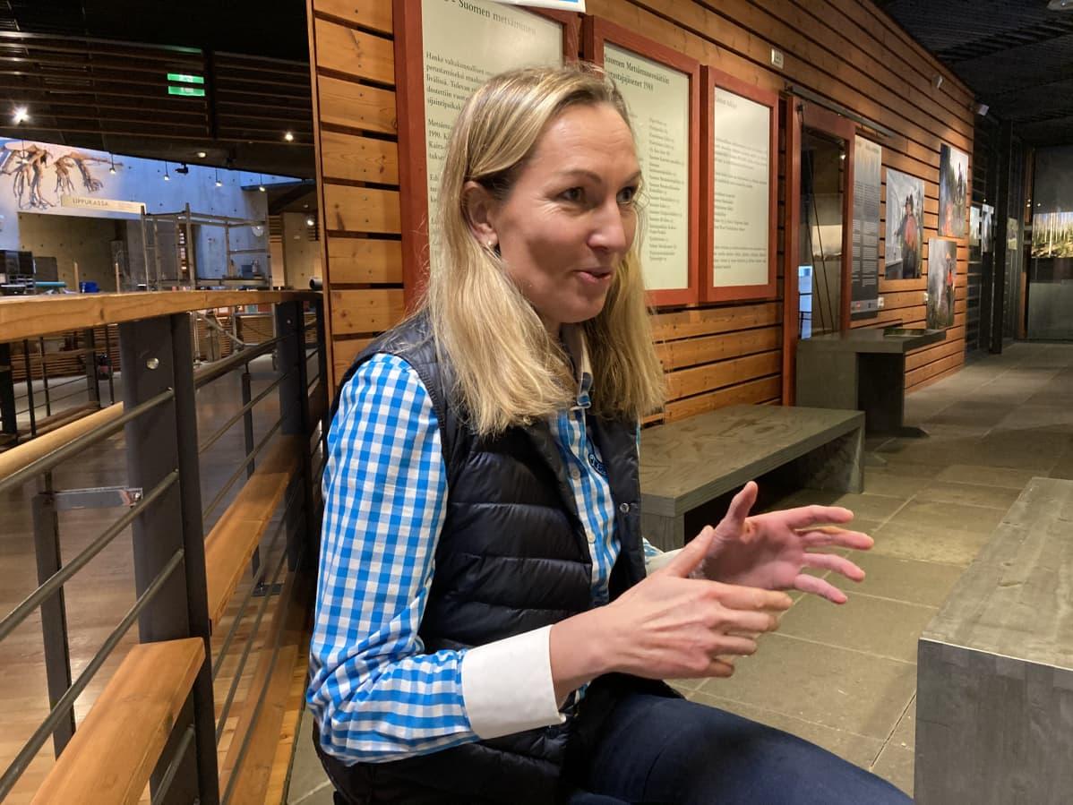 Niina Uronen Lustossa.