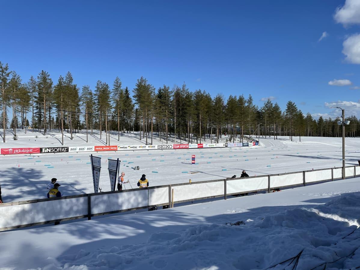 Saukkovaaran hiihtostadion SM-hiihdoissa 2021