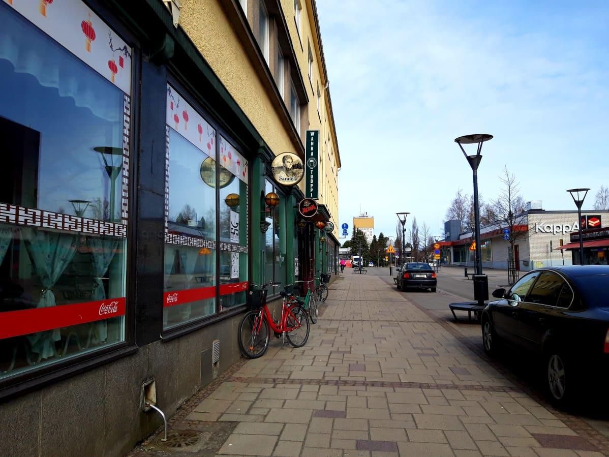 Varkauden kaupungin keskustan katunäkymää