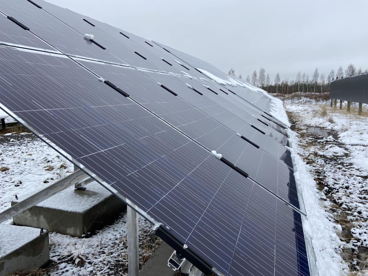 Alavudella aurinkopaneeleja