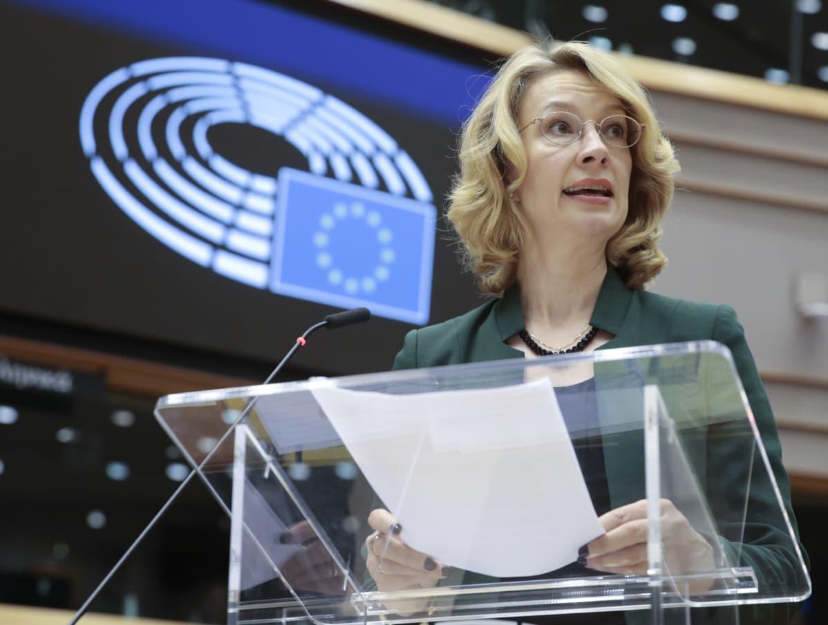 Eurooppaministeri Tytti Tuppurainen Brysselissä lokukuussa 2019.
