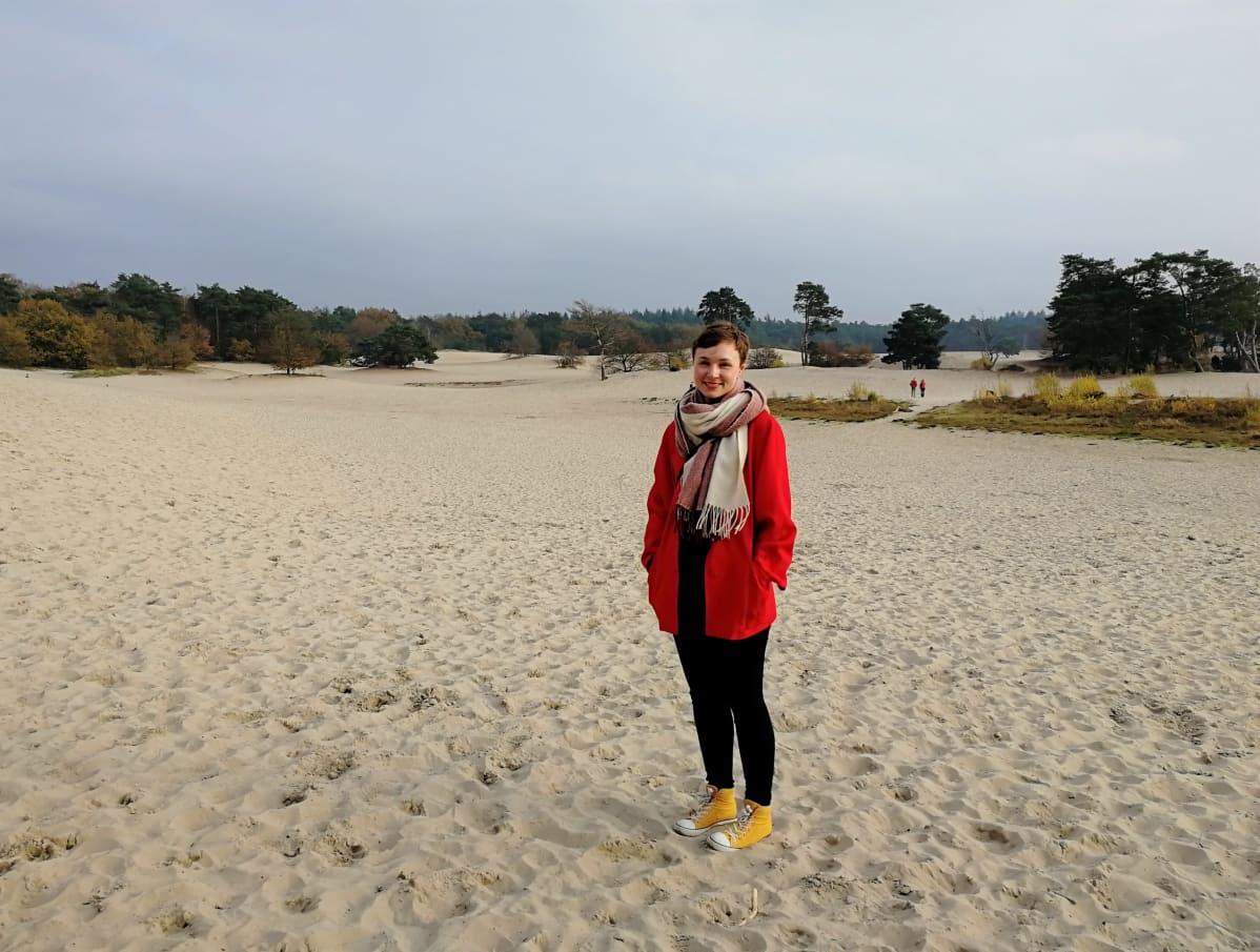 Lange Duinen -nimisellä hiekkakentällä.