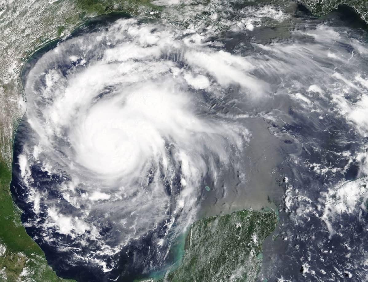 Hurrikaani-Harvey satelliittikuvassa.