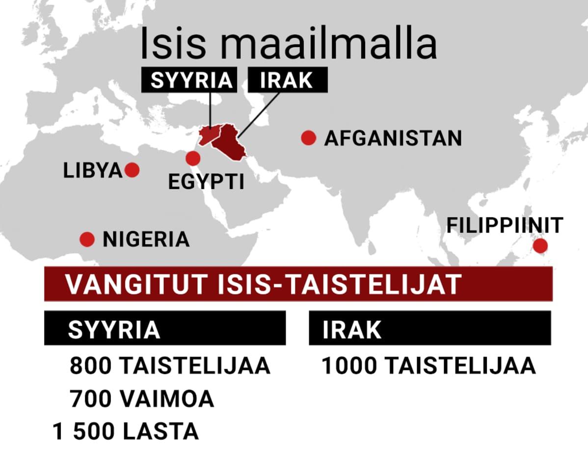 Isis maailmalla -kartta