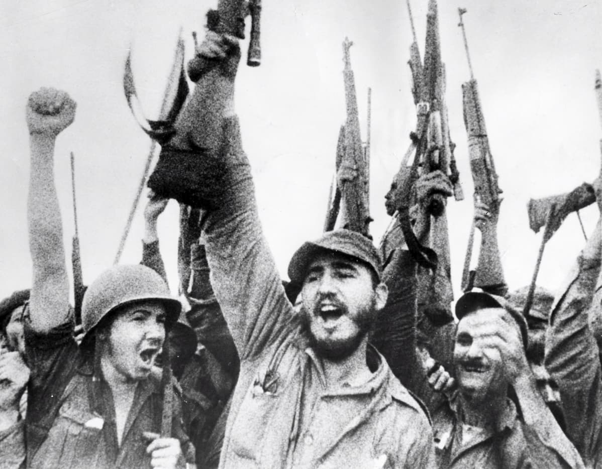 Fidel Castro juhlii.