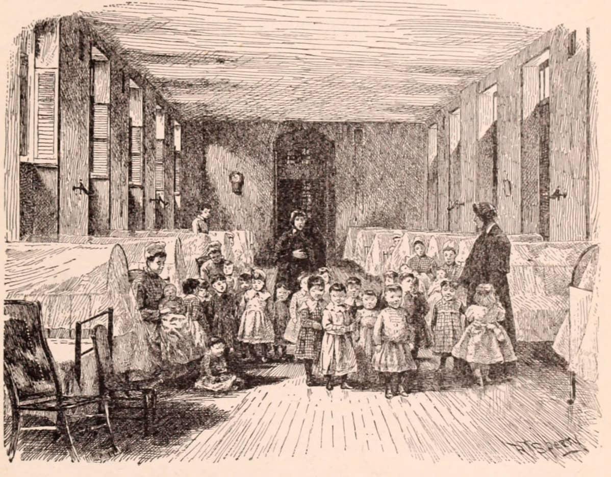 Pienten lasten seimi orpokodissa New Yorkissa